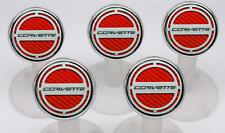 053017 Red 2014-16 Auto Z06/Z51/C7 Corvette Fluid Cap Cover 5Pc Set W/Lettering