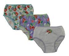 e92b60b429d4 Disney Princess Ariel Girls 3 Pack Assorted Color Panties Size 4 8