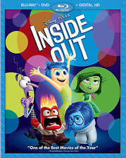 Inside Out Blu-ray DVD, 2015, 3-Disc Set, Digital Copy Disney Pixar NEW