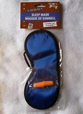 On The Go Sleep Mask Blue With Ear Plugs