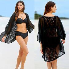 Sexy Women Blouse Lace Crochet Summer Coat Shawl Kimono Cardigan Bikini Cover Up