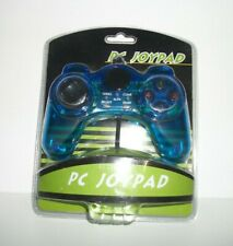 PC USB Blue JOYPAD GAMEPAD GAME CONTROLLER - New In Box!