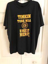 Vintage T-shirt TIMKEN STEEL Bearings Workers Union Employee AFL-CIO CLC 2XL