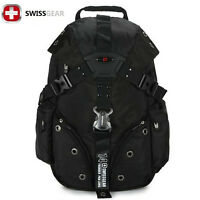 "New SwissGear Nylon laptop backpack 15"" Macbook Schoolbag Travel Hiking bags"