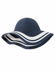 Carter's Toddler Girls Floppy Straw Striped Wide Brim Bucket Sun Hat 2T-4T NWT