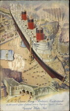Steamship RMS Queen Mary Compared Trafalgar Square London Paquebot Cancel