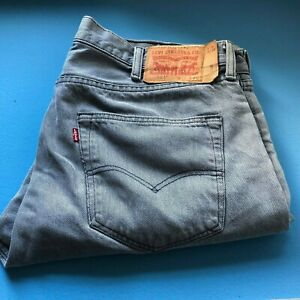 Vintage Levi 501  Straight Leg Jeans Waist 38 Leg 30 Button Fly faded black