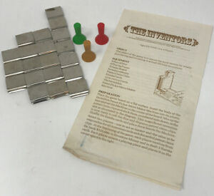 The Inventors Board Game Replacement Instructions 3 Game Pieces & 20 Claim Clips