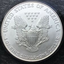 BEAUTIFUL 1995 USA 1 OUNCE SILVER EAGLE DOLLAR. COA. SEALED, WALKING LIBERTY.