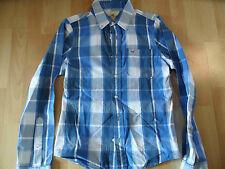 HOLLISTER schönes kariertes Hemd blau weiß Gr. S w. NEU 516