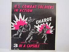 Vintage U.S. Combat Soldiers In Action Gumball Machine Label K.G. Inc.