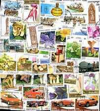 Cambodge - Cambodia 500 timbres différents oblitérés