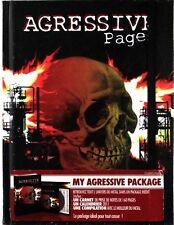 Agressive Pages - 160 page Hardback Notebook + 16 track Metal CD (New)