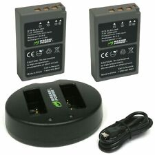 Olympus BLS5 Wasabi Power Battery x 2 and Dual USB Charger for BLS-50 PS-BLS5
