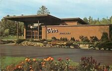 Guild NH~Flower Beds near The Dorr Mill Store~1960s Postcard