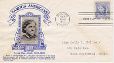 POSTAL HISTORY - CROSBY CACHET 1940 FAMOUS AMERICANS LOUISE MAY ALCOTT AUTHOR