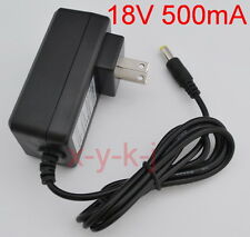 AC 100V-240V Adapter DC 18V 500mA Switching Power Supply US plug 5.5mm 9W 0.5A