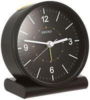 Official SEIKO CLOCK analog alarm clock black KR328K w/Tracking# F/S New Japan