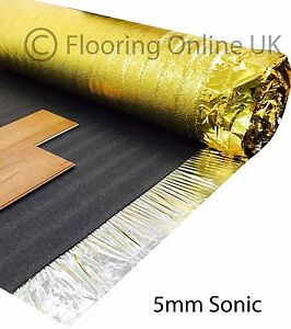 30m2 Deal - Sonic Gold 5mm - Acoustic Underlay For Wood or Laminate Flooring