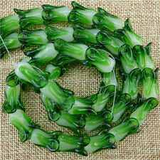 13395 10PCS Glass Vegetable Celery Cabbage Lampwork Millefiori Glass Beads
