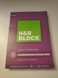 2017 H&R Block DELUXE Federal Tax New sealed CD Homeowners Investors