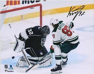 "Kirill Kaprizov Minnesota Wild Signed 8"" x 10"" Debut OT Game-Winning Goal Photo"