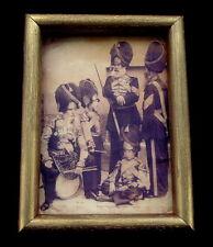 Antique Russian Portrait Imperial Soldiers Millitary Uniform, Golden Frame Rare