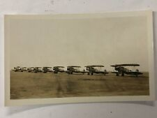 Fp01_008a Found Photo 1934 Lineup of Navy Aircraft Oakland Airport Ca