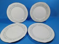 "4 Noritake Marywood 2181 Floral Contemporary Fine China 10.5"" Dinner Plates"