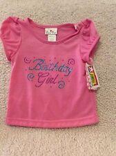 "NEW Toddler Girl Rhinestone ""Birthday Girl"" shirt top - Size 24 months"