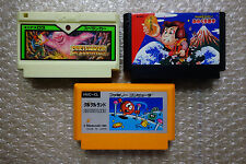 Spelunker/Clu Clu Land/Goemon Cartridge Set Nintendo Famicom Japan