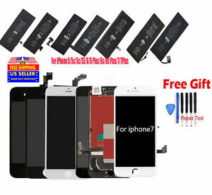 Lot LCD Screen Digitizer Assembly & Battery Replacement for iPhone 5s 6s 7/8Plus