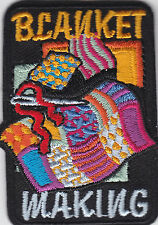 Boy Cub Girl Scouts Embroidered Badge Fun Patch Badge~Blanket Making