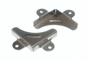 10 Of Mirror Corner Fastening Bracket Clip Mounting Clamp Cp + Screws