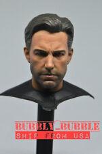 "1/6 Ben Affleck Batman Bruce Wayne Head w/ Neck Cape For 12"" Hot Toys Figure USA"