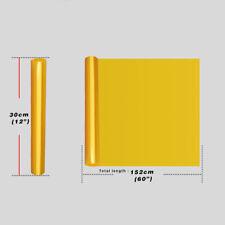 "12""x60"" Light Smoke Tint Headlight Taillight Fog Light Vinyl Film Golden Yellow"