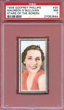 1936 Stars of the Screen Card #30 MAUREEN O'SULLIVAN Tarzan Actress PSA 7