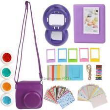 For Fujifilm Instax Mini 8 Instant Camera Accessory Bundles 7 in 1 Bag Purple
