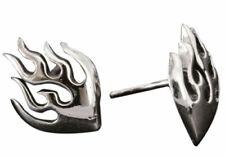 Sterling Silver Flame Stud Earrings - Pair