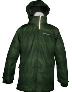 Boys Columbia Arctic Trip II Interchange Hooded Winter Jacket NWT Large Damaged