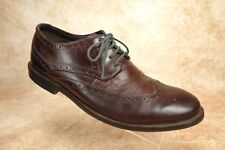 Clarks Burgundy Leather Wingtip Casual Dress Oxford Derby Shoes Mens Size 11M US