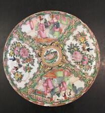 Chinese Late Qing (1900-1920) Famille Rose Four Panel Scene Plate Chips