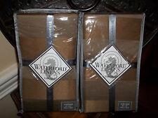 NIP Waterford Bardon Fawn Striped Euro Shams (2)
