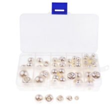 79Pcs/Box Beauty Pearl Buttons Sewing Clothing Craft Art 8/10/12/14/16/18mm
