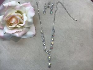 Necklace & Earring set AB Rhinestones beautiful for all your ocassions