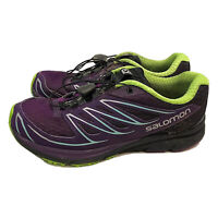 Salomon Sense Mantra 3 Trail Running Shoes Womens US 5M Purple Athletic Euc
