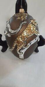 Jay Strongwater Ornament Safari Egg
