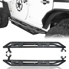 2PCS Textured Black Side Step Nerf Bar for 07-18 Jeep Wrangler JK/JKU 4 Doors
