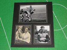 VINTAGE JOHN CHARLES firmato Leeds United e JUVENTUS MOUNT
