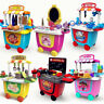 Cute Kids Simulation Ice Cream Shop Kitchen Cart Pretend Toy Set Role play Gift